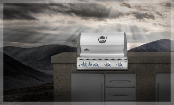 napoleon einbau gasgrill lex485 edelstahl grillcenter. Black Bedroom Furniture Sets. Home Design Ideas