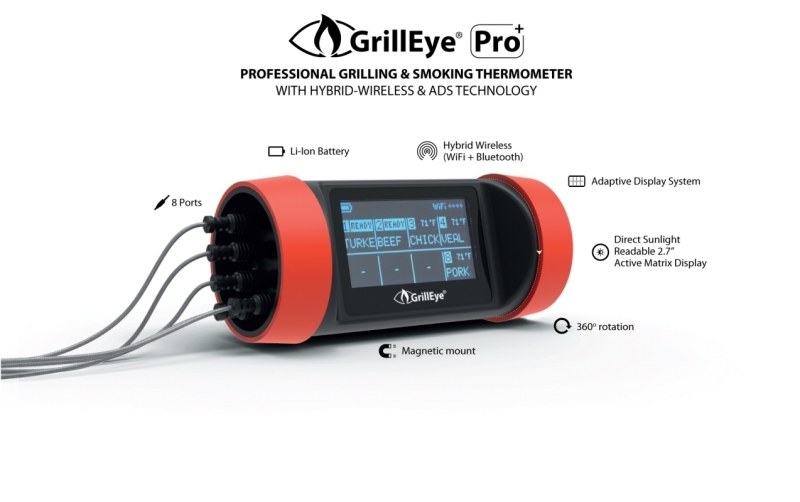 GrillEye ProPlus Thermometer Starter Set. 2.0